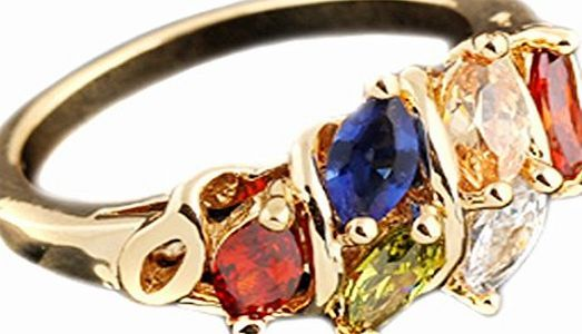 Qiyun.Z Women Colorful Copper Crystal Rhinestone Ring Gold Plated Diamond Ring Gift Women jewelryFashion ringsCopper (Barcode EAN = 6673402599713). http://www.comparestoreprices.co.uk/december-2016-week-1/qiyun-z-women-colorful-copper-crystal-rhinestone-ring-gold-plated-diamond-ring-gift.asp