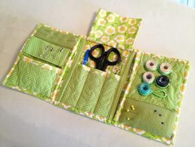 Tri-Fold Sewing Caddy same idea, only make it so the Kindle slide in one side, phone on the other, and a place for CC -