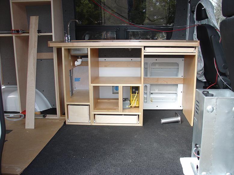Sprinter Kitchen Cabinet Sprinter Conversion Mercedes Van Kombi