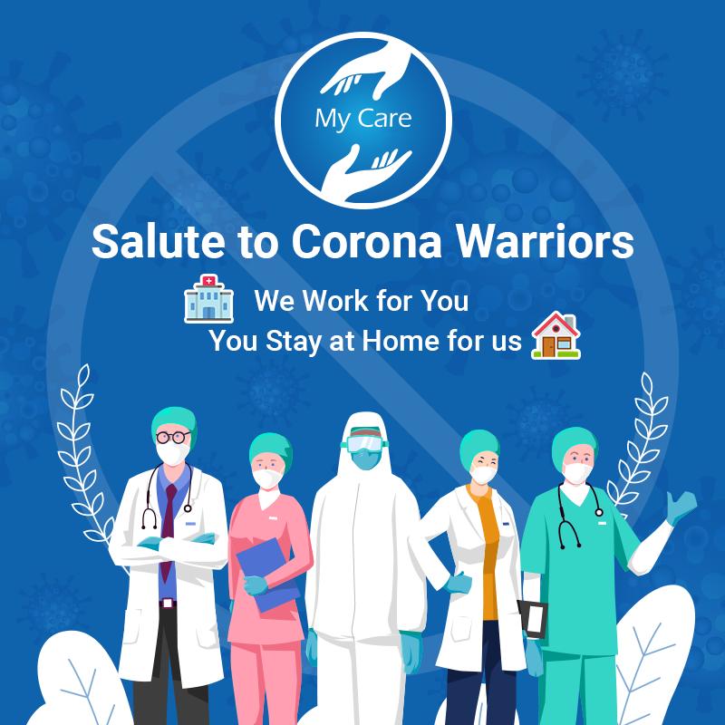 Salute To Corona Warriors Medical App Online Doctor Warrior