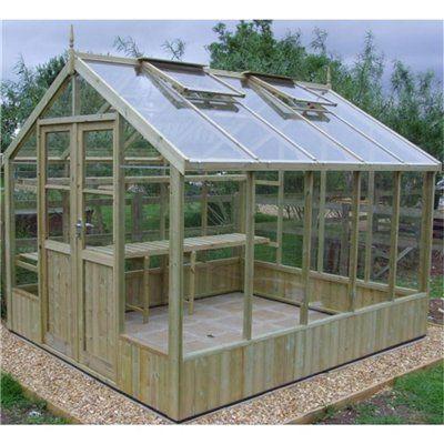 Looks Diy Simple Kinda I Want It Greenhouse Wooden 400 x 300