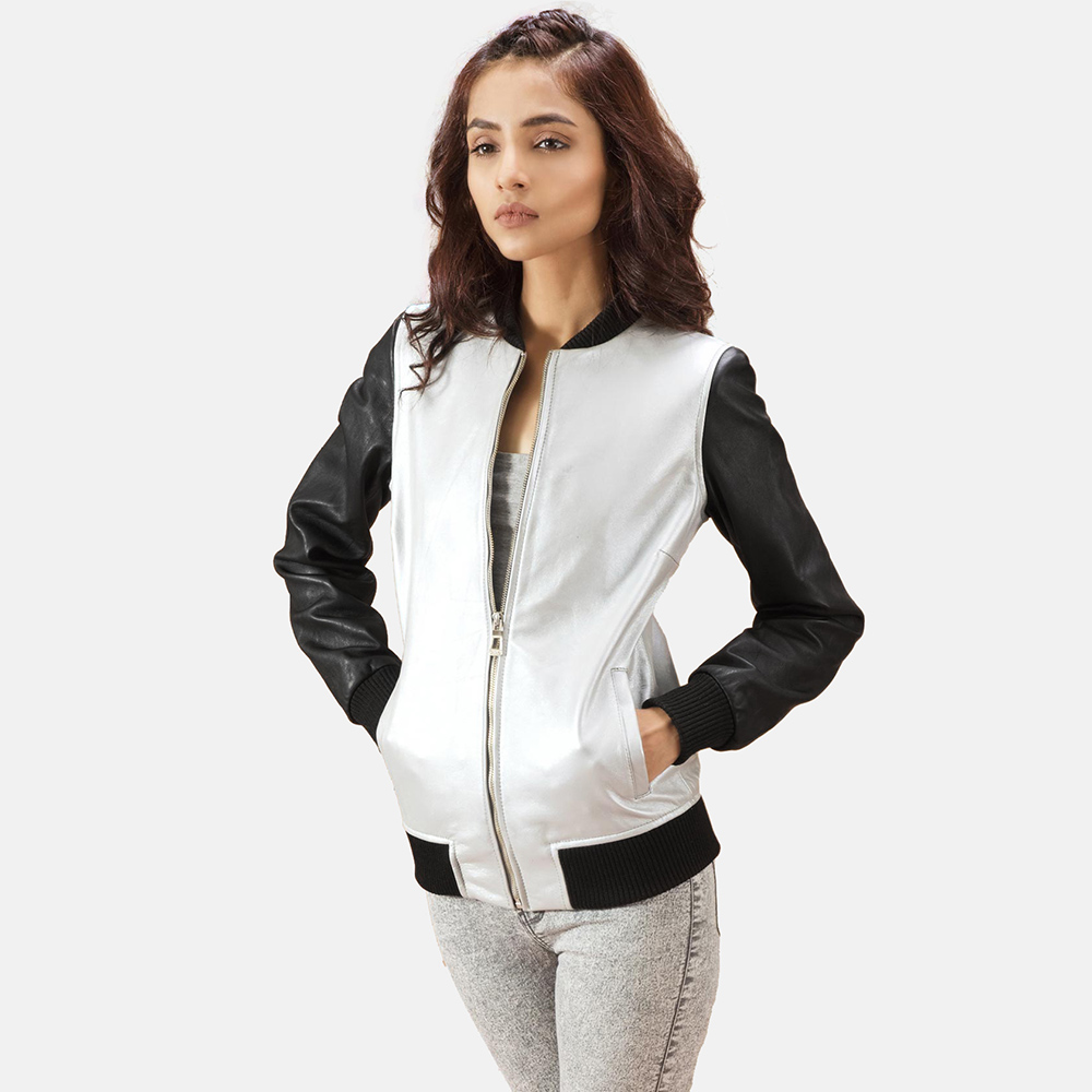 bomber jacket women Google Search Black leather bomber