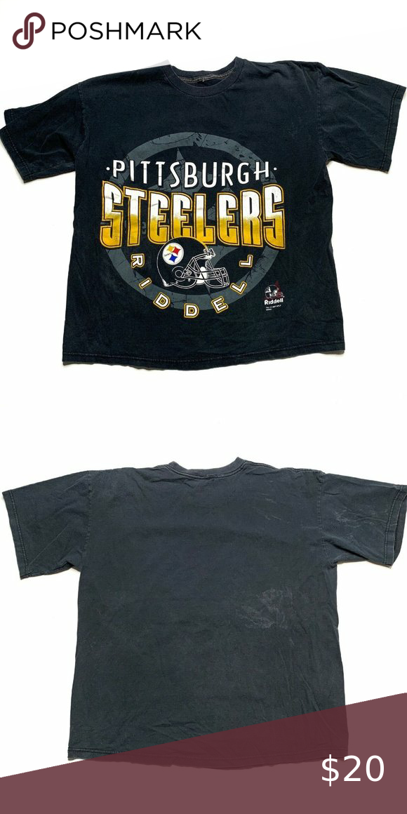 Vintage Pittsburgh Steelers T-Shirt Size XL Black