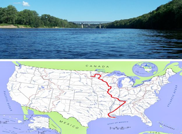 Longest River Is Mississippi River It Is Considered As Fourth - Longest river in the usa