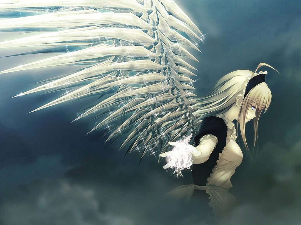 1024x768 Angel Anime Wallpaper Angels Demons Angel Anime