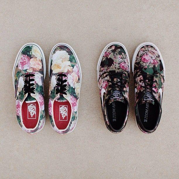 vans floral chaussures supreme