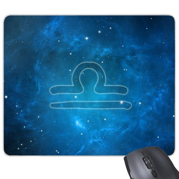 Starry Sky Night Libra Zodiac Constellation Sign Mouse Pad