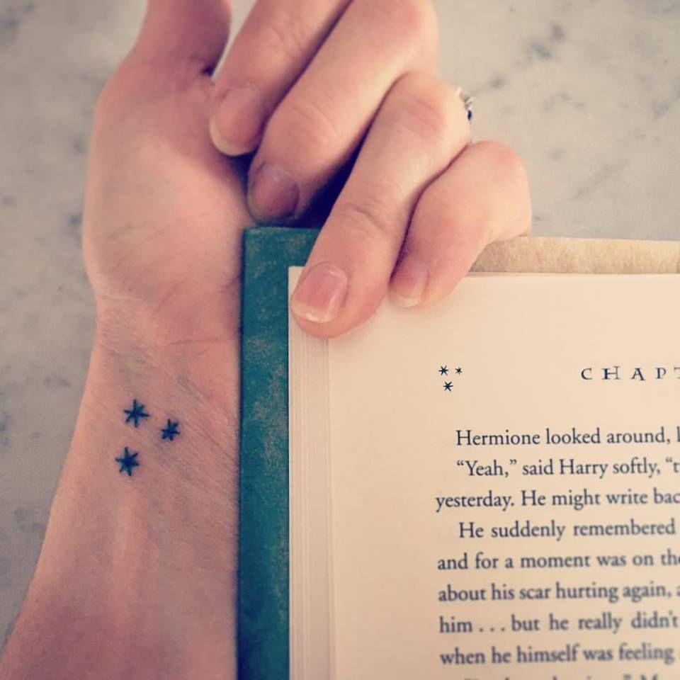 My Harry Potter Book Star Tattoo 3 Harry Potter Star Tattoo Star Tattoos Tattoos