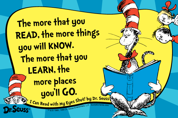 Poster Dr Seuss Reading Quotes