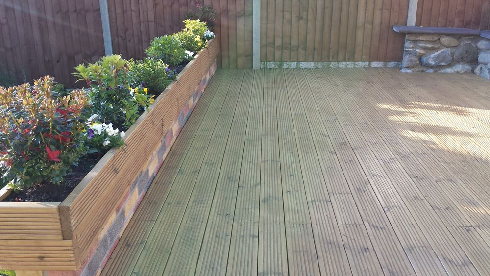 decking flower bed - Google Search