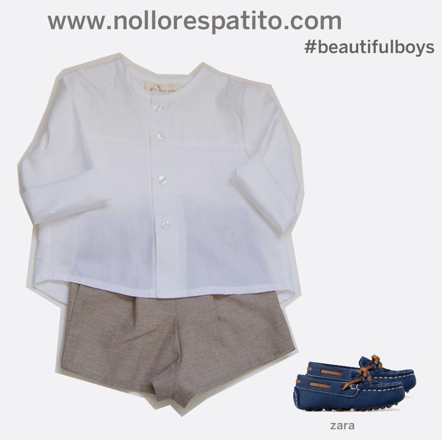 Camisa cuallo caja + pantalón corto arena