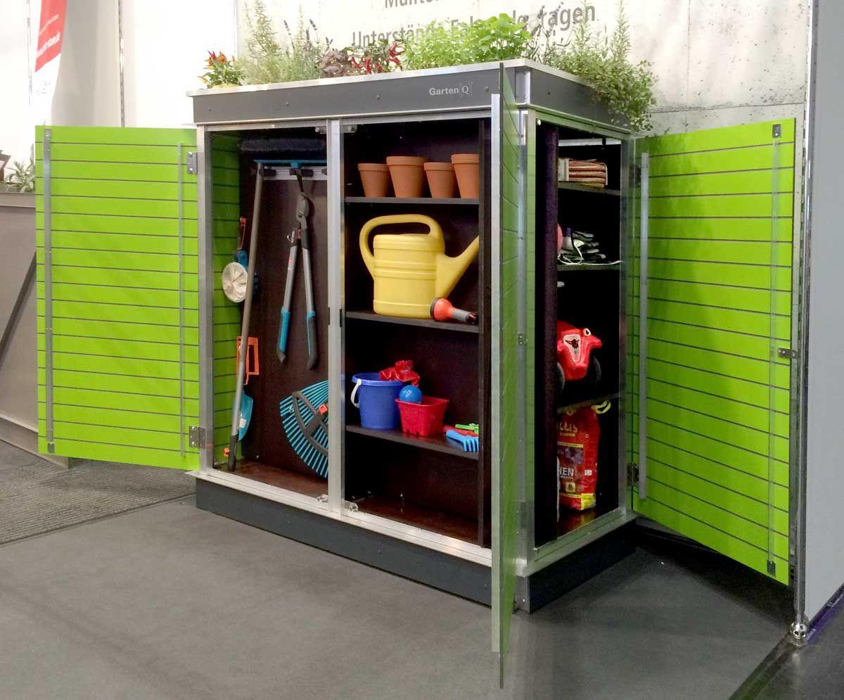 Wetterfester Gartenschrank mit Dachbegrünung | Garten Idee | Pinterest