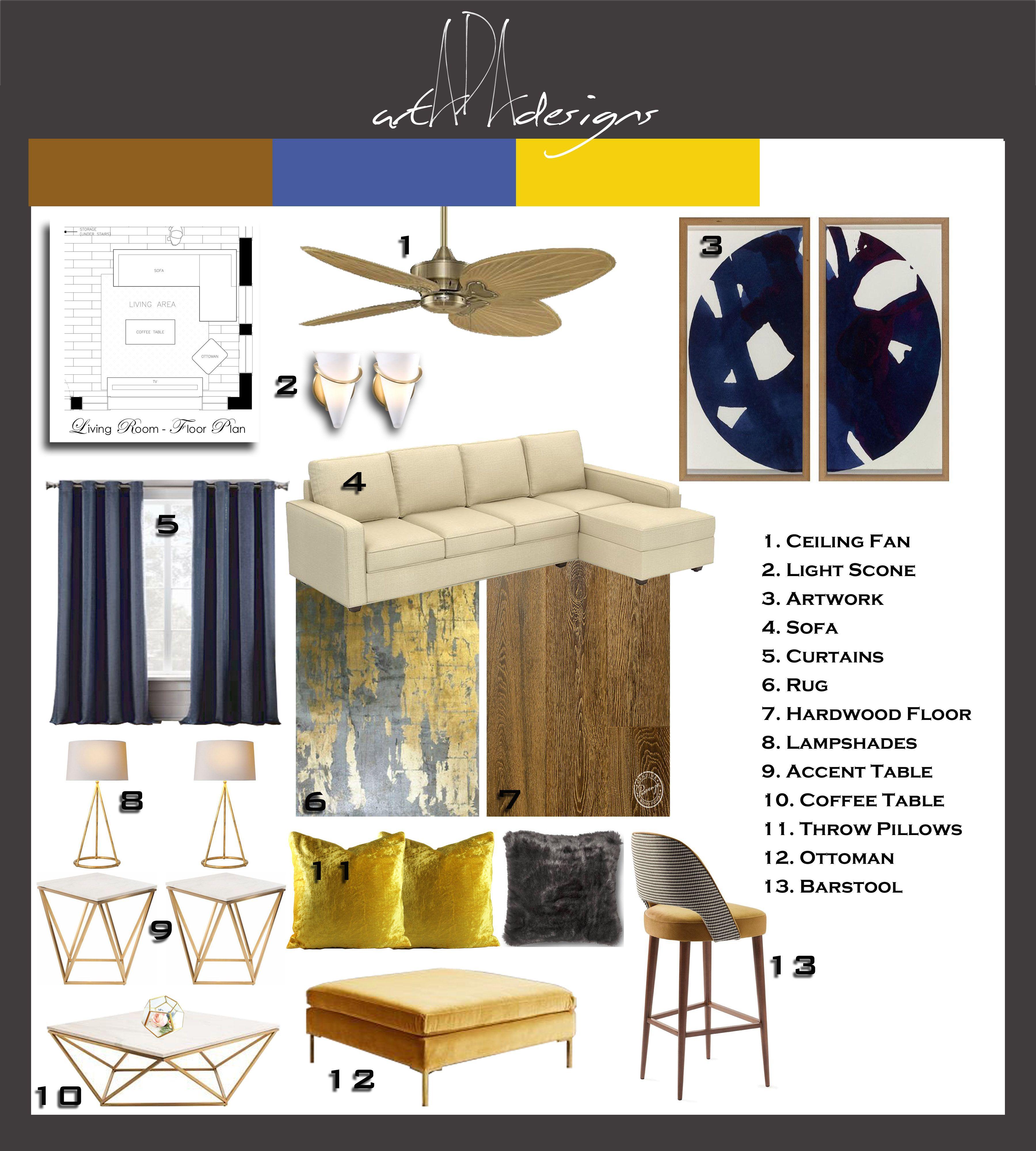 Assignment 9 Living Room Mood Board Interior Design Courses
