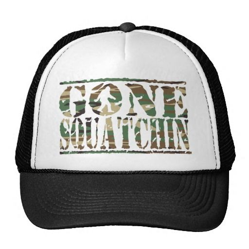Gone Squatchin Camouflage Print Hat