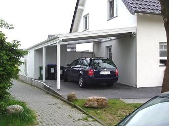 carport mit schr gdach modell landshut in weiss abri chalet carport garage garage et house. Black Bedroom Furniture Sets. Home Design Ideas