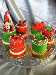 Image result for individual mini christmas cakes