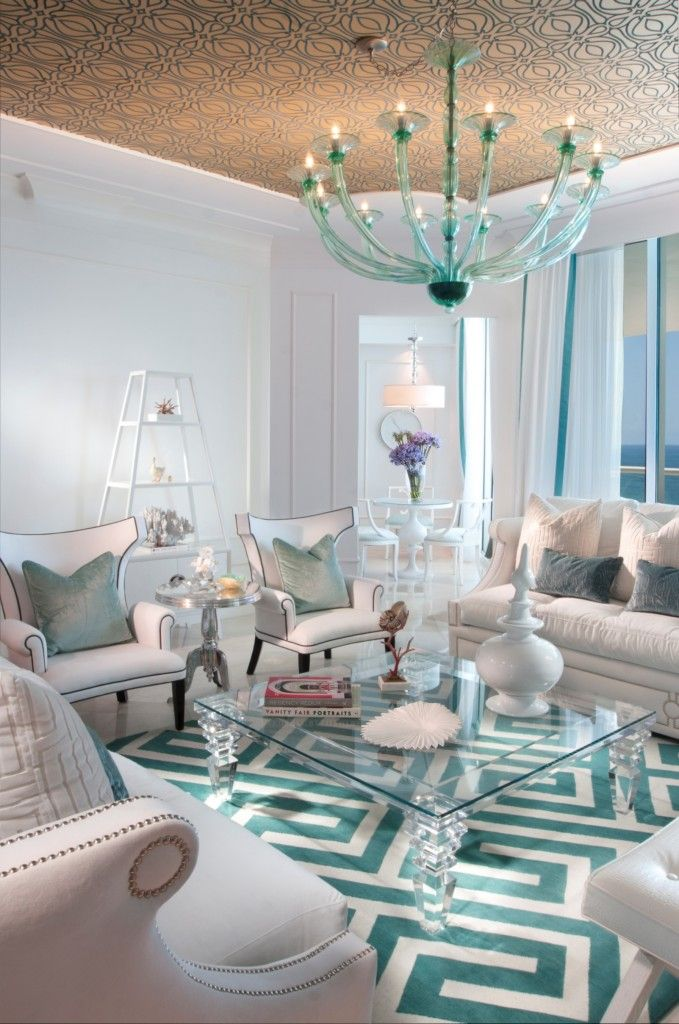 10 Ideas For How To Decorate Your Living Room With Turquoise Accents Design Projects And Rooms