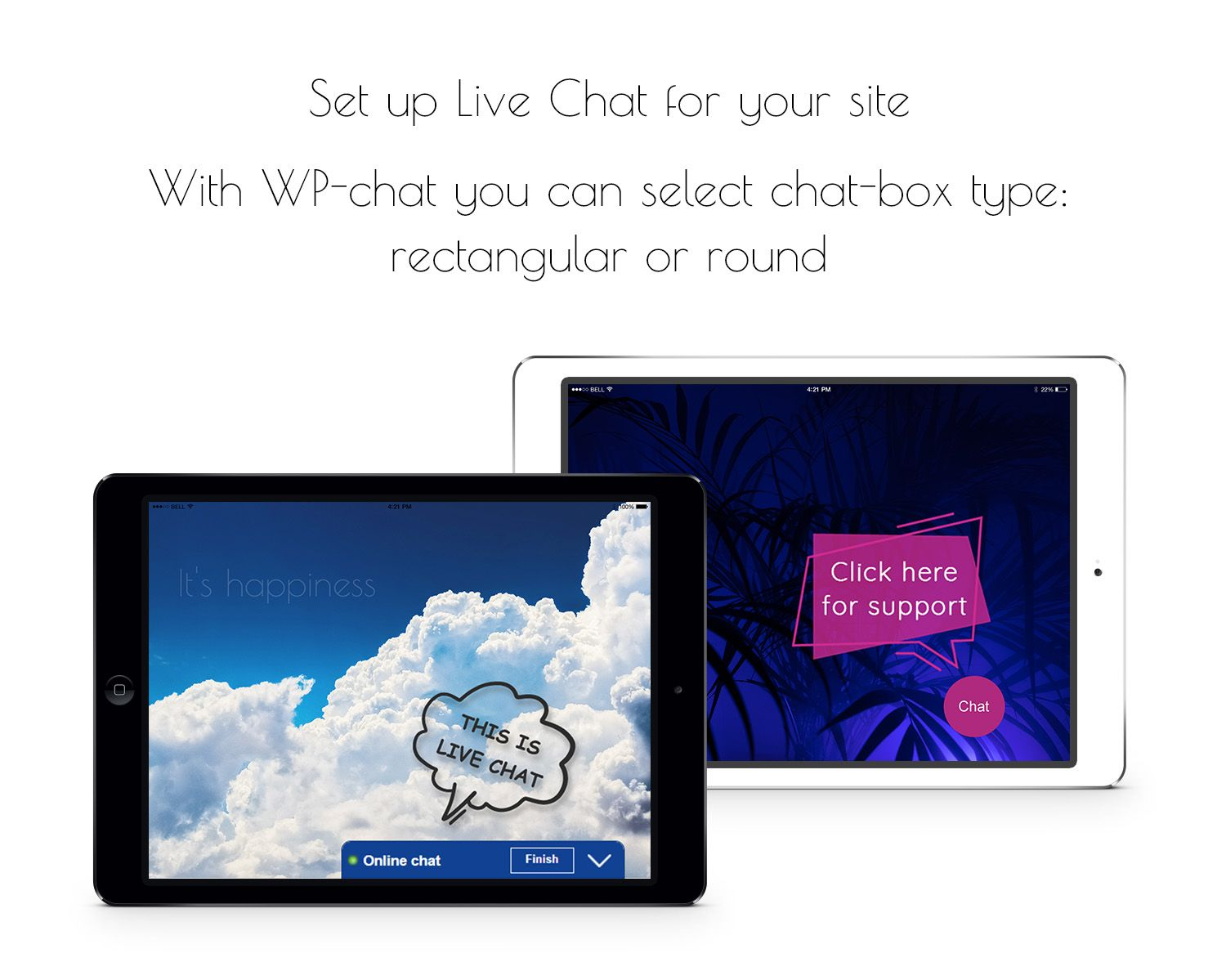 Live chat new design feature be more friendly and interesting to