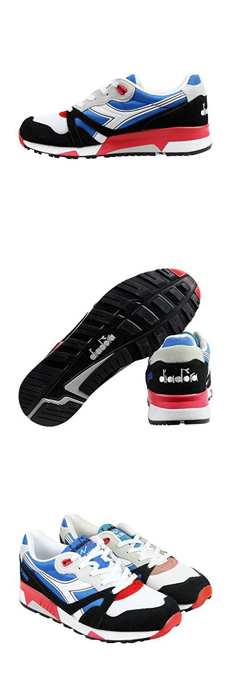 Diadora N9000 Nyl Mens Blue Mesh Athletic Lace Up Running Shoes 9.5