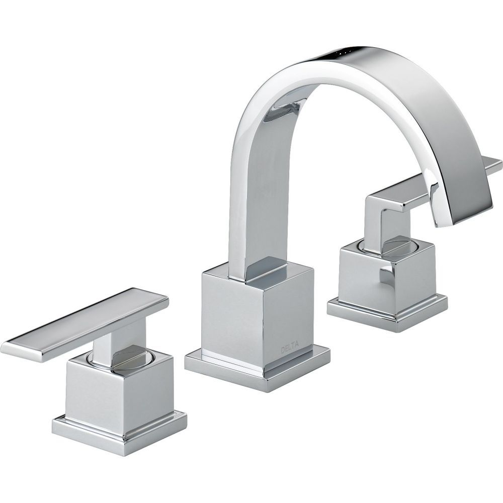 Delta Faucet 3553lf Vero Polished Chrome Two Handle Widespread Bathroom Faucets Efaucets Com Bathr Bathroom Faucets Chrome Bathroom Faucets Lavatory Faucet [ 1000 x 1000 Pixel ]