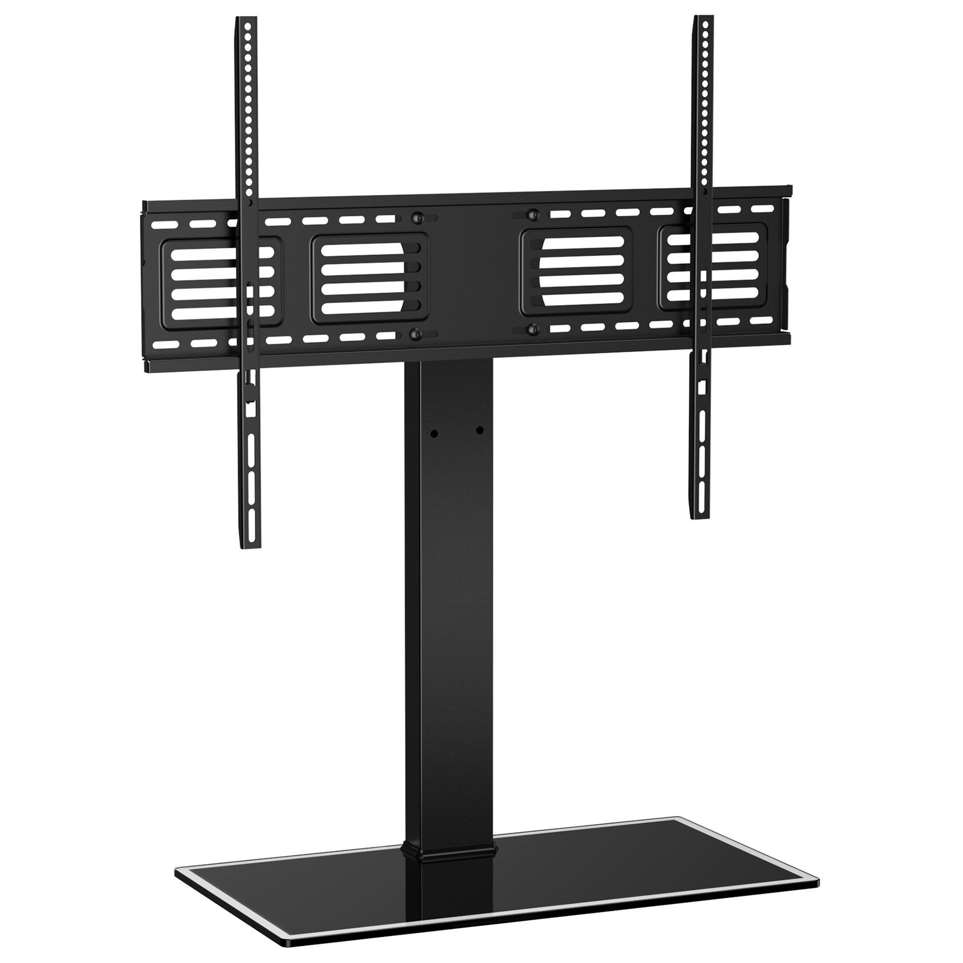 Fitueyes Universal Tv Stand Pedestal Base Wall Mount For 50 80 Flat Screen