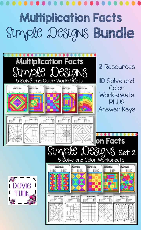 Multiplication Coloring Worksheets in Fun Designs - Make ...