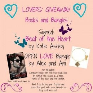 Less than 24 hours to enter Facebook #giveaway. Signed paperback of Beat of the Heart by Katie Ashley. Alex & Ani bracelet..