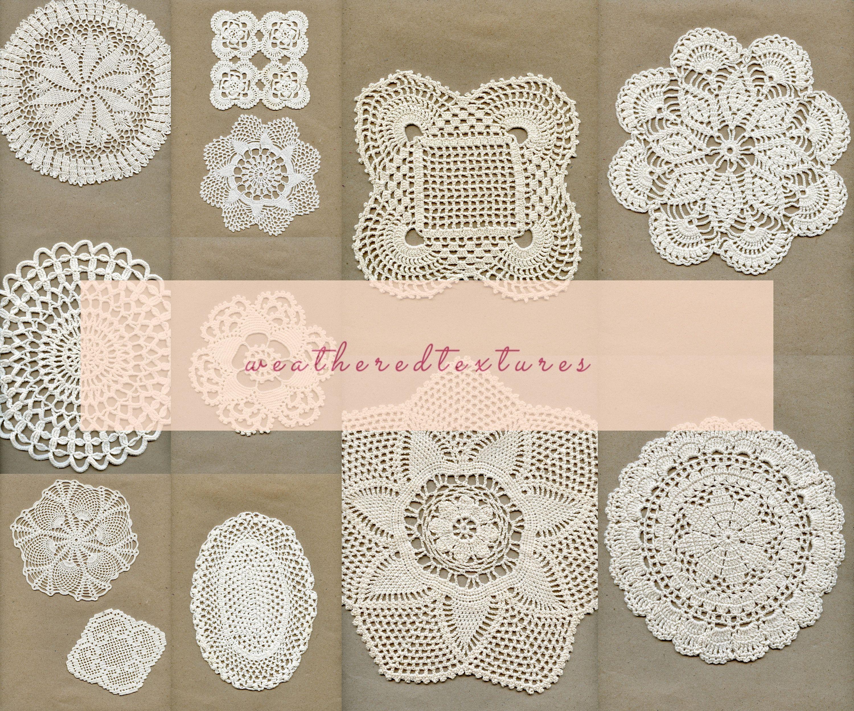 Doily digital image Vintage crochet doily wall art decor Doilies digital Doilies wall art Instant download doilies Vintage doily art