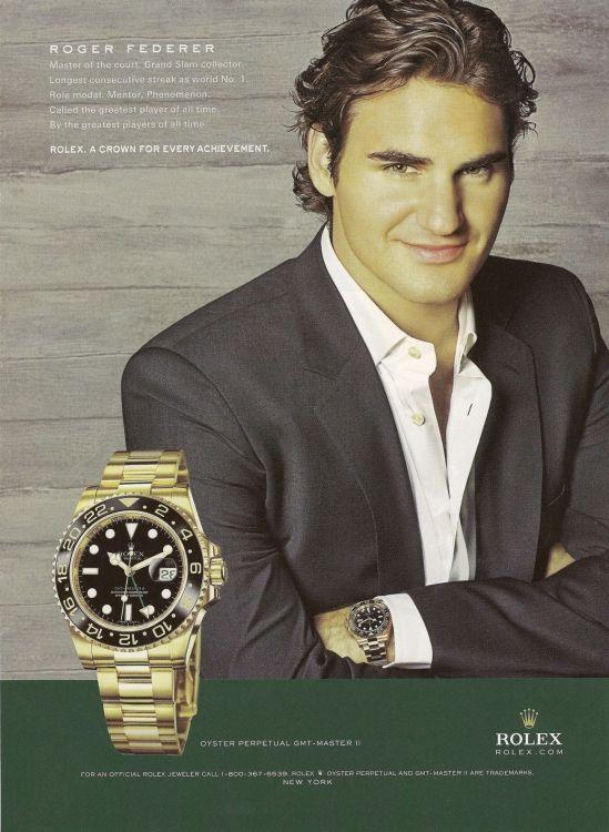 Image result for Rolex ad roger federer