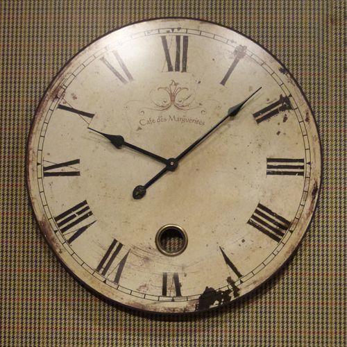 French Cream Shabby Chic Wall Clock