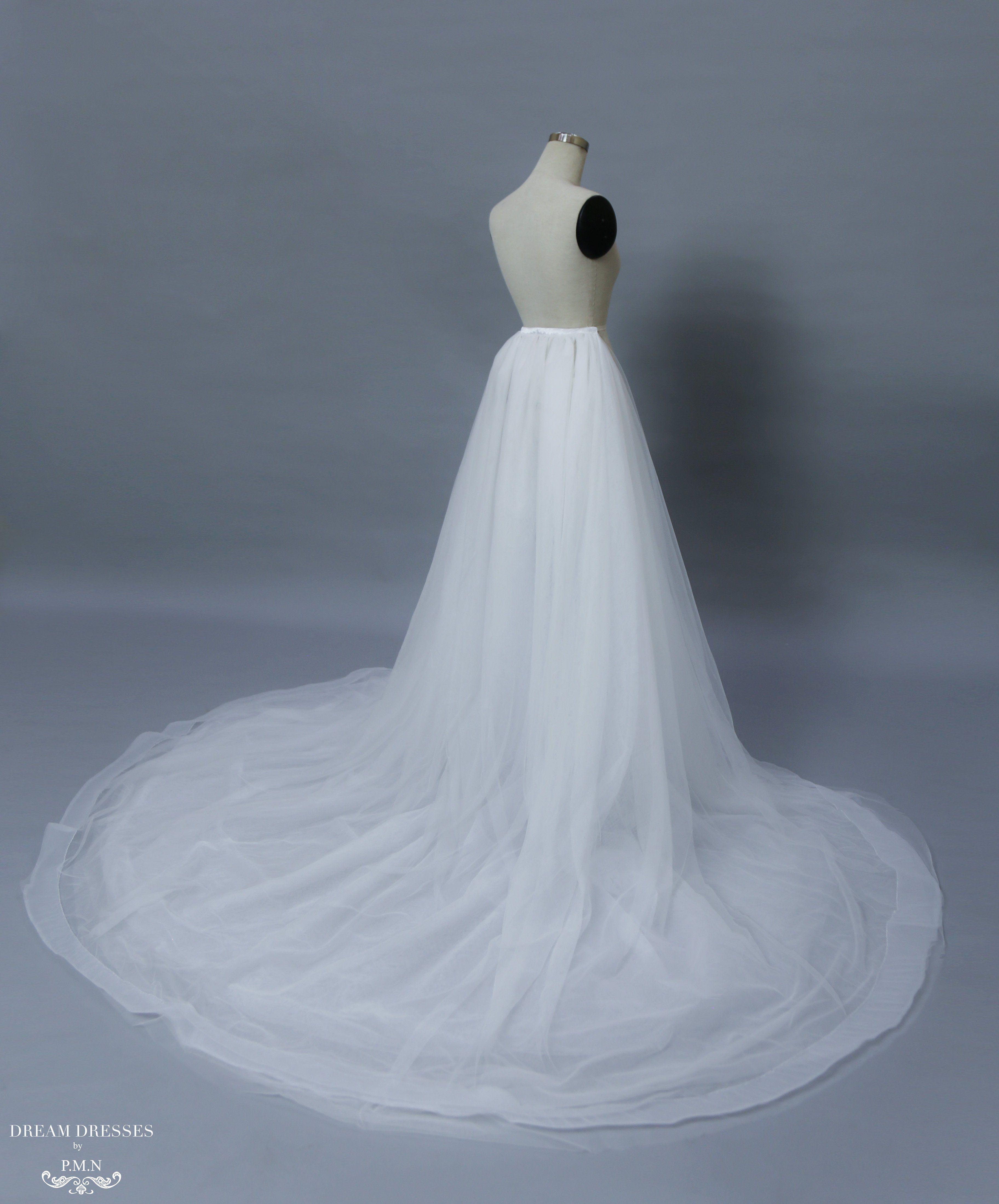 Detachable Bridal Tulle Skirt with Horsehair braid (#Lamia) | Tulle ...