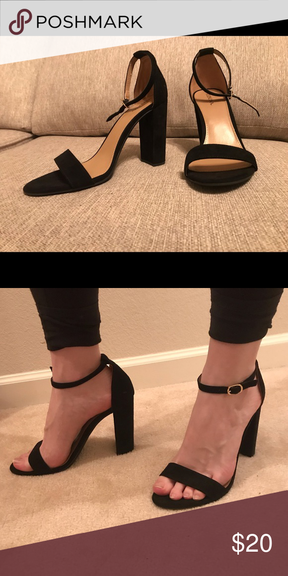 2243eb4be33c Black Heels Never worn   Thick heel   Smoke free home   Thin strap across  the top Bought and never worn