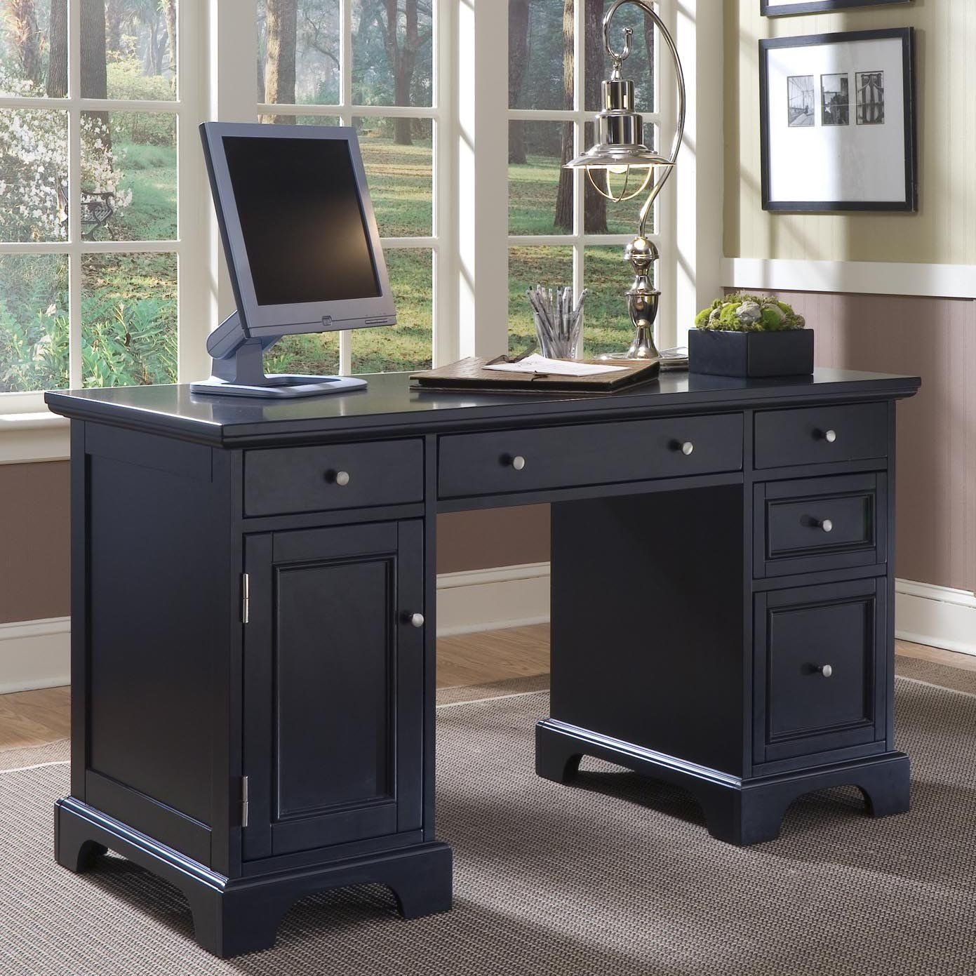 furniture for computers at home. Home Styles Bedford Pedestal Computer Desk - $488.98 @hayneedle. Furniture For Computers At Home