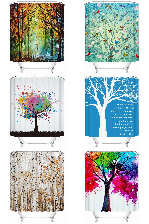 Visit to Buy] European Style Painting Tree Bathroom Accessories ...