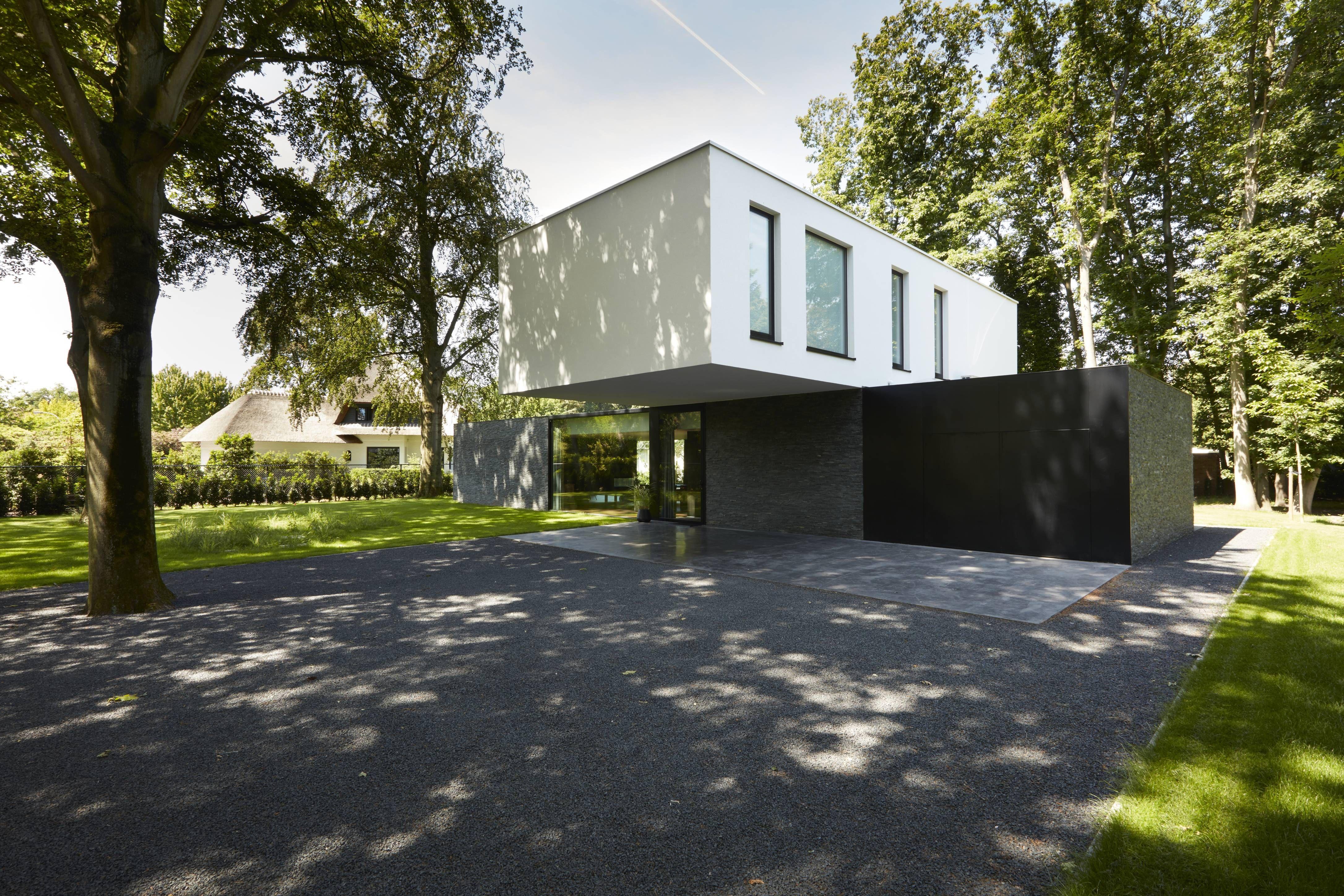 Icoonbe Architecten Minimalist House Stone Cladding