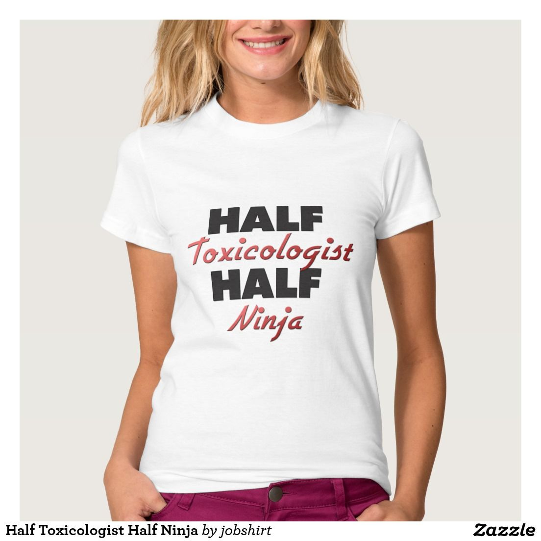 Half Toxicologist Half Ninja T-shirt