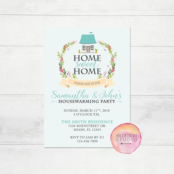 Housewarming Party Invitation  Home Sweet Home Invite  New House Invitation  House warming Digital Invitation  New Home Printable Invite is part of New home Printable - or images used in my designs