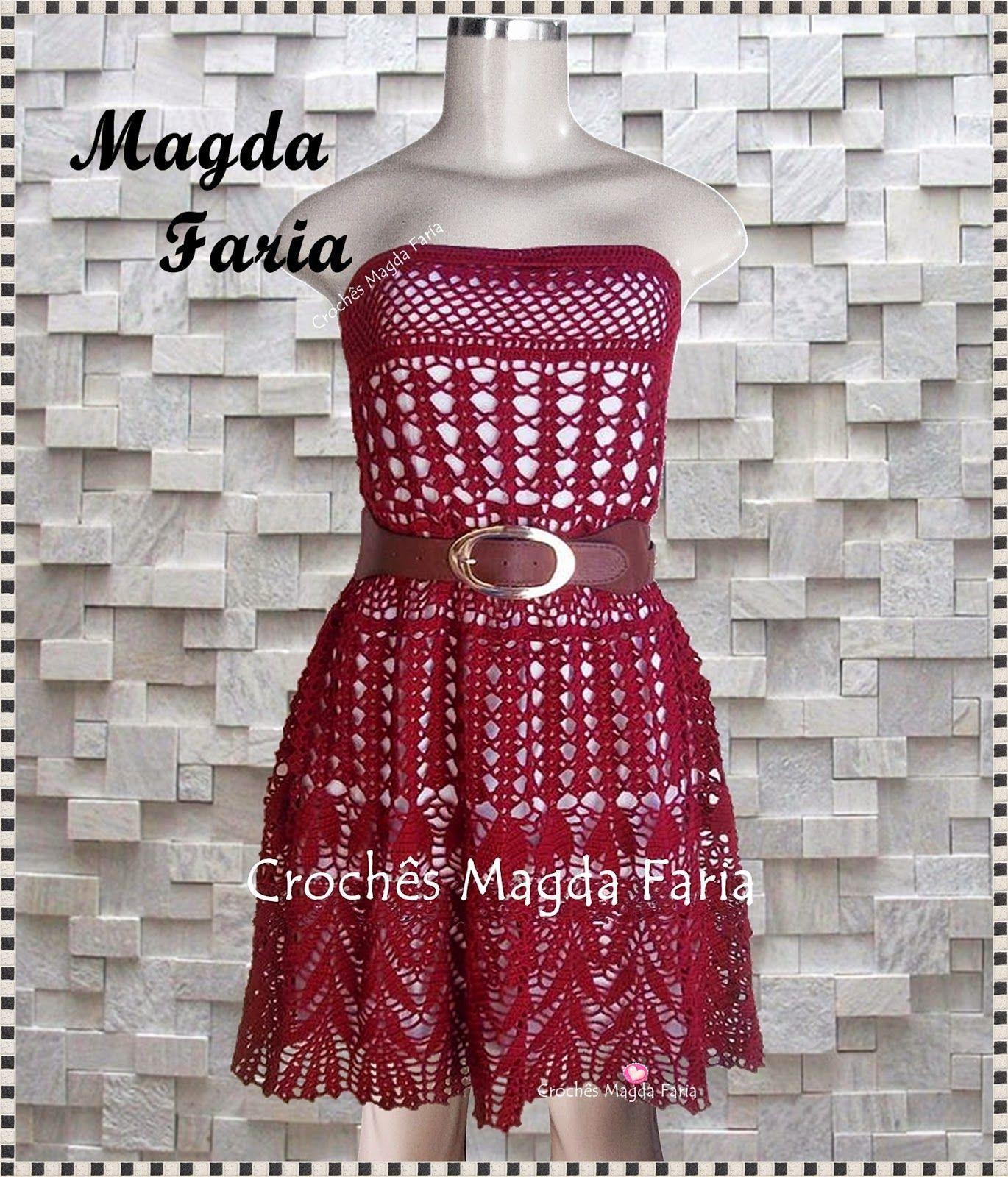 Famosos Crochê Magda Faria: Vestido Mariá | Crochê Vestidos | Pinterest  BZ59