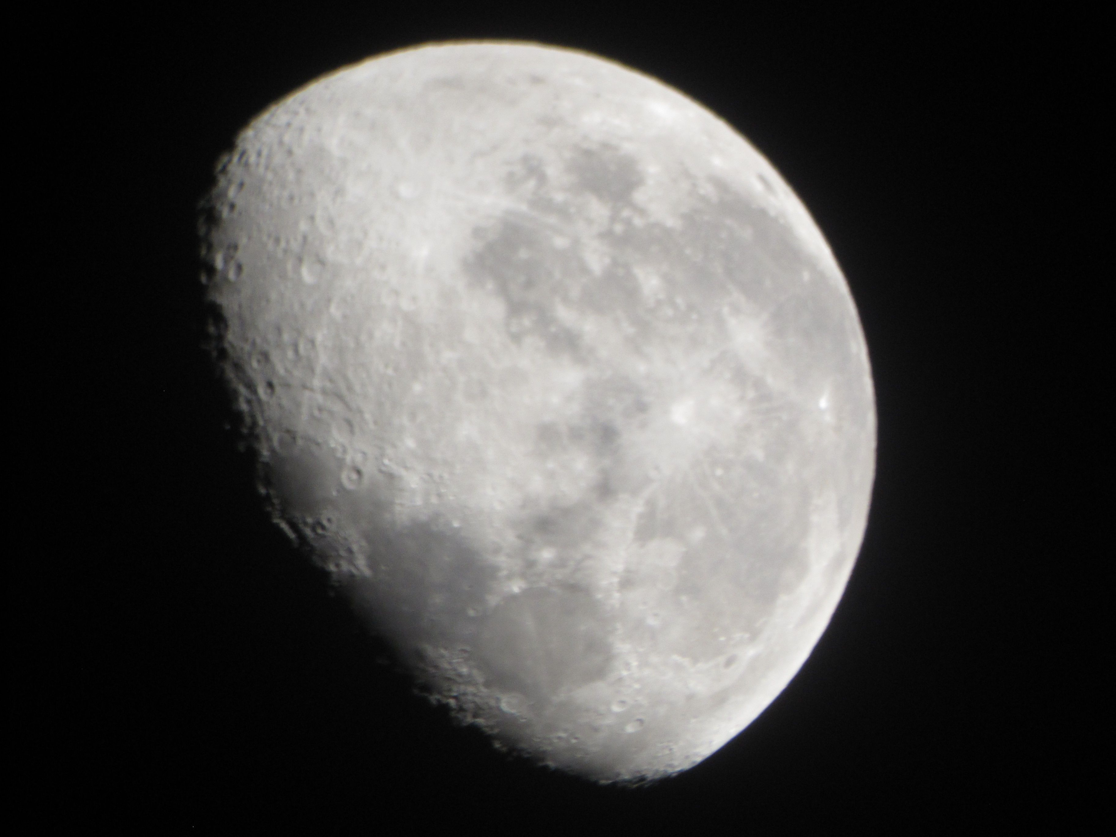 Another picture of the moon, more white