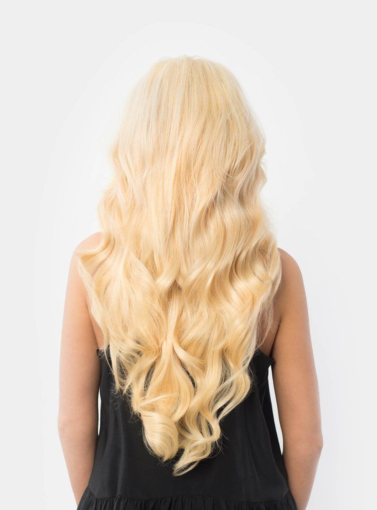 Luxy Hair Bleach Blonde 613 20 Clip In Hair Extensions