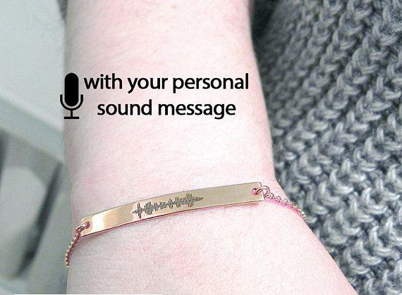 Personal Soundwave Bracelet 5mm Waveform Custom
