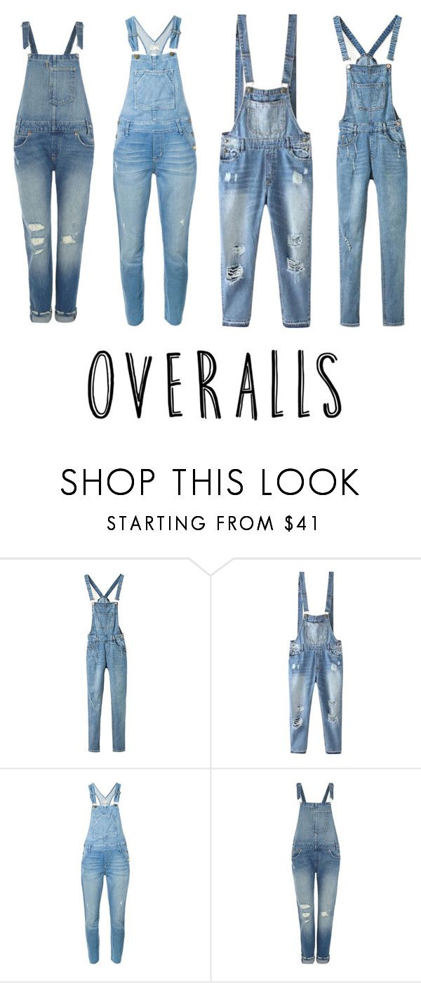 """""""Overalls"""" by aashaaaaaak on Polyvore featuring Relaxfeel, Current/Elliott and Levi's"""
