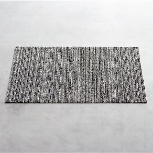 Chilewich Birch 36x20 Doormat In Utility Crate And Barrel Pvc And Polyester Vinyl Backing For Indoor Or Outdo Door Mat Crate And Barrel Chilewich