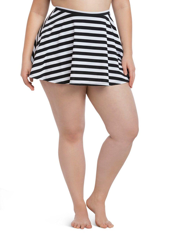 730a21e33d3 Striped Skater Skirt Swim Bottom     Trust me