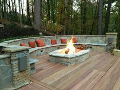 Deck Ideas With Fire Pit 1000 Images About Home Renovation On Pinterest Decks Backyards