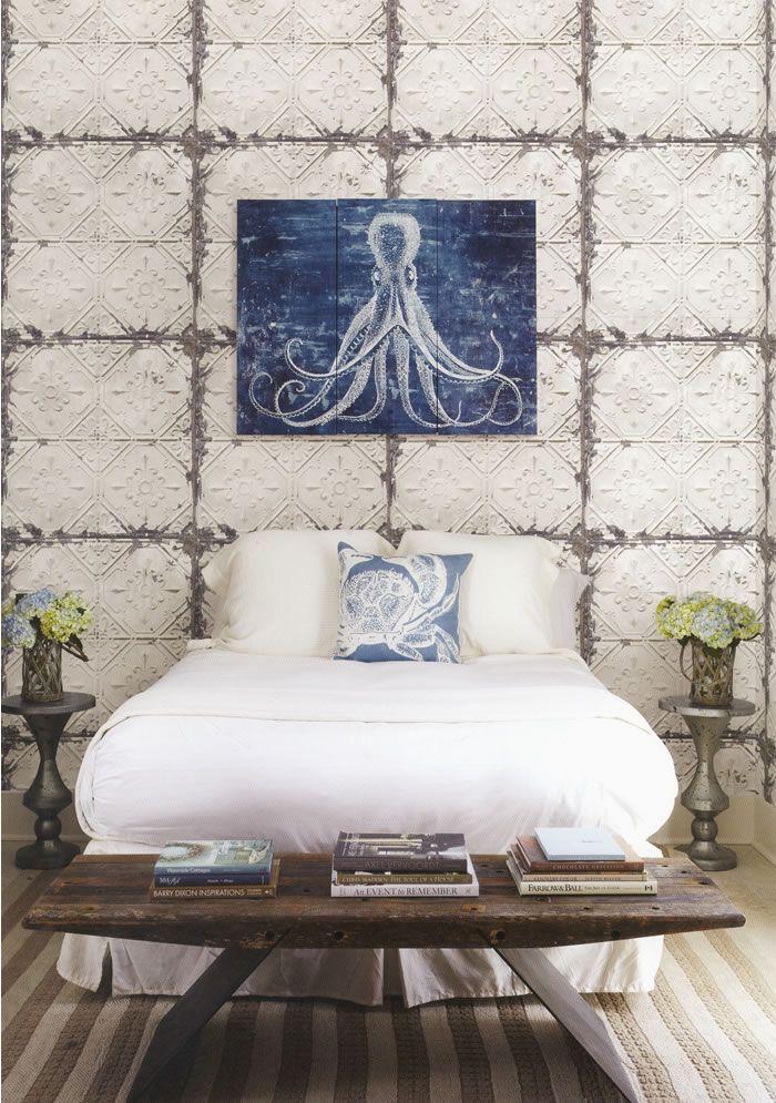 RECLAIMED Fine Decor Wallpaper - a vintage tile effect wallpaper ...