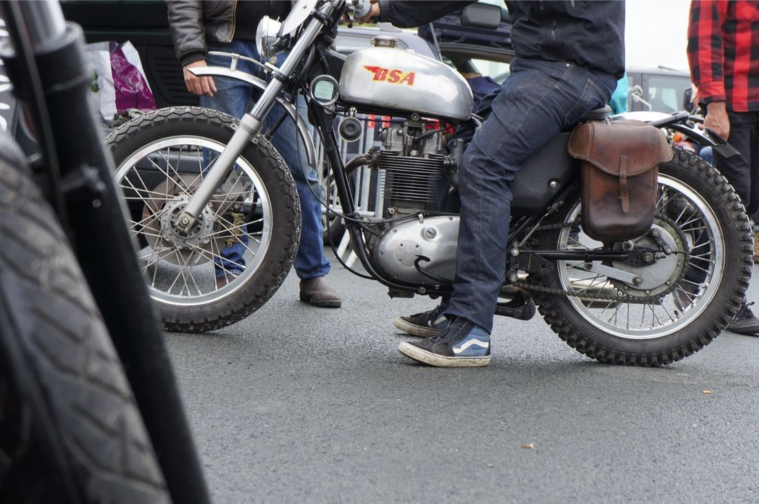 BSA Scrambler from Wheels and Waves 2013 in Biaritz, photo by Bubble visor