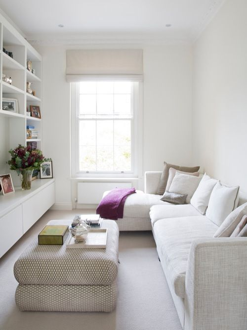 I like the idea of taking up most of the space with comfy seating ...