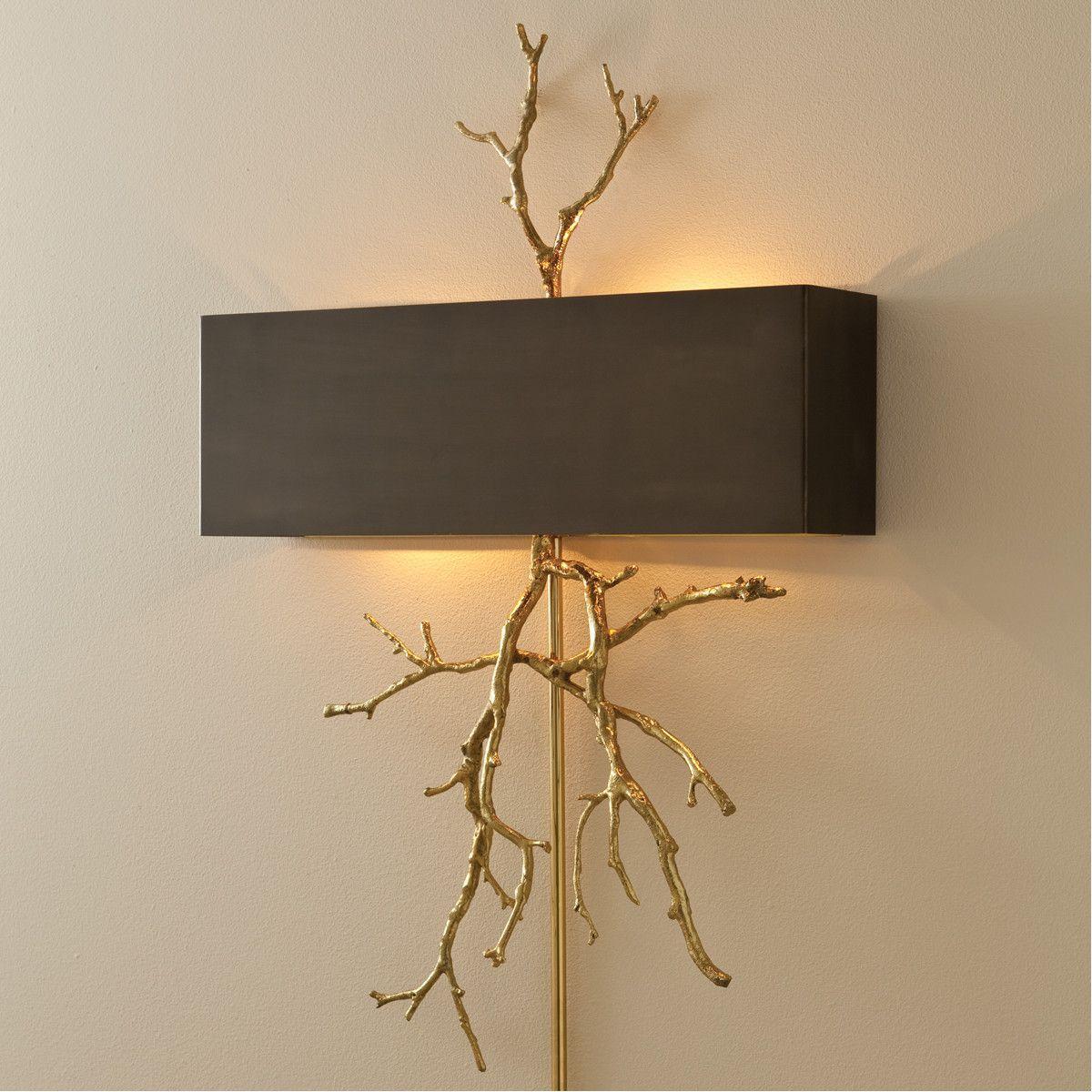 Global views twig electrified wall sconcebrass on brass home