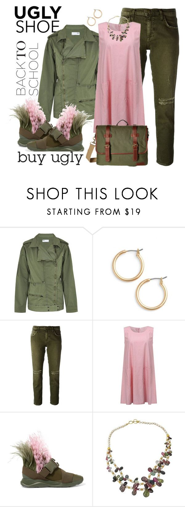 """someone's going to wear them"" by ffendi ❤ liked on Polyvore featuring Reiko, Nordstrom, Current/Elliott, Christopher Kane, Tommy Hilfiger and uglyshoe"